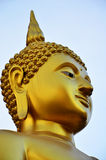 Face of golden budda Stock Images