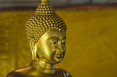 Face of golden buddha Royalty Free Stock Photo