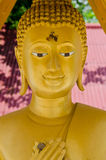 Face of golden buddha Stock Photos