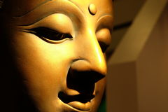 Face Golden Buddha Royalty Free Stock Photography