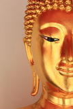 Face of Golden Buddha Statue Royalty Free Stock Image