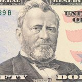 The face Grant the dollar bill. The face of Grant the dollar bill Royalty Free Stock Images