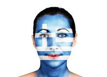 Face with the Greece flag Stock Image