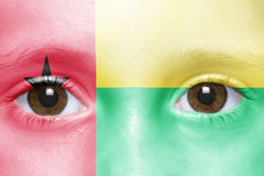 Face with guinea bissau flag Royalty Free Stock Photography