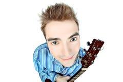 Face guitar Stock Photography