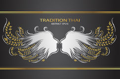 Face and hair thai tradition abstract Stock Photo