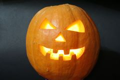 Face of halloween pumpkin Stock Photo