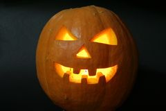 Face of halloween pumpkin Stock Image