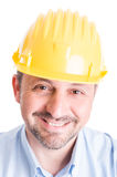 Face of a happy architect or engineer Royalty Free Stock Photo