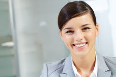 Face of happy boss Royalty Free Stock Photos