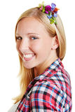 Face of happy smiling woman Royalty Free Stock Images