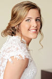 Face of a happy young bride Royalty Free Stock Image