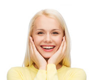 Face of happy young woman Royalty Free Stock Photos
