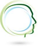 Face, head, human logo Royalty Free Stock Photo