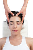 Face and Head Massage at Spa Stock Image