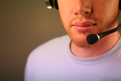 Face with headset royalty free stock image