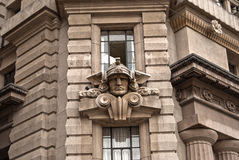 Face of hermes on building. This is Hermes the message deliver of Zeus Stock Photography