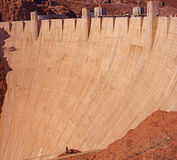 Face of Hoover Dam, Lake Mead , Colorado River Stock Photo