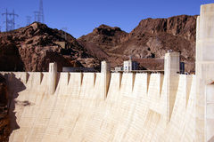 Face of Hoover Dam, Lake Mead , Colorado River Royalty Free Stock Images