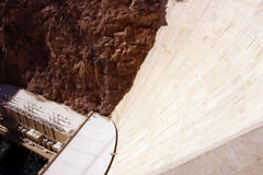Face of Hoover Dam, Lake Mead , Colorado River Royalty Free Stock Image