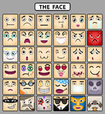 Face icons 1. Many human face emotion icons Stock Photography