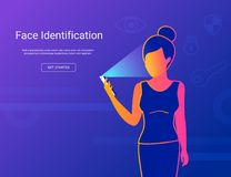 Face identification of young woman. Stock Photography