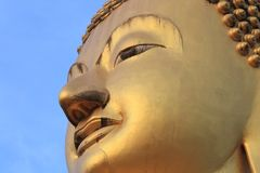 Face in the image of Buddha Royalty Free Stock Photo