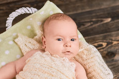 Face of infant boy. Royalty Free Stock Photo