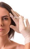 Face injections, surgery Royalty Free Stock Photography