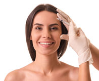 Face injections, surgery Royalty Free Stock Photo