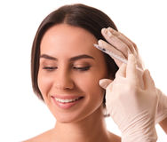 Face injections, surgery Royalty Free Stock Image