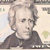 The face Jackson the dollar bill Stock Photo