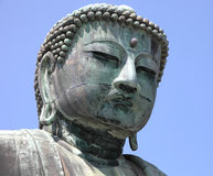 Face of Japanese buddha Royalty Free Stock Images
