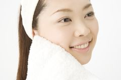 Face of Japanese woman Royalty Free Stock Photography
