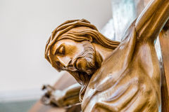The face of Jesus Christ with crown of thorns Royalty Free Stock Image