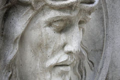 Face of Jesus Christ crown of thorns (statue) Royalty Free Stock Photography