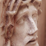 Face of Jesus Christ crown of thorns (statue) Royalty Free Stock Photo