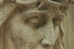 Face of Jesus Christ crown of thorns (statue) Stock Image