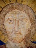 The face of Jesus Christ, a medieval painting Stock Photography