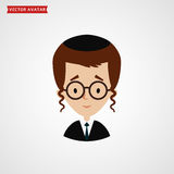 Face of jew boy. Cute vector avatar. Royalty Free Stock Images