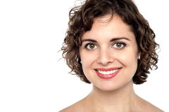 Face of a joyous young female Royalty Free Stock Images