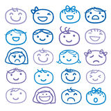 Face Kids Draw Emotion Feeling Icon Cute Cartoon Vector Design Royalty Free Stock Photography