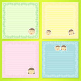 Face kids notepad Stock Photography