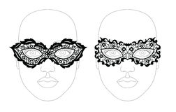 Face lacy mask. Royalty Free Stock Images