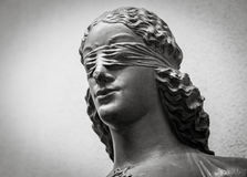 Face of Lady Justice Stock Image
