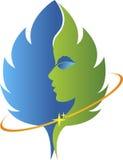 Face leaf logo Stock Images
