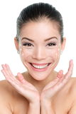 Face lift anti-aging treatment - Asian woman Stock Images