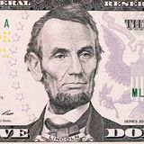 The face Lincoln the dollar bill Royalty Free Stock Image