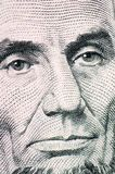 The face of Lincoln the dollar bill macro Stock Photos