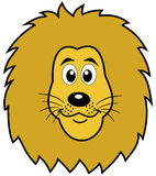 The face of a lion. Illustration Stock Images